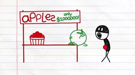 创意搞笑铅笔动画 卖出带虫子的苹果 顾客找来该怎么处理