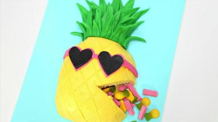 超级可爱的菠萝蛋糕, 学会了做给孩子们吃吧