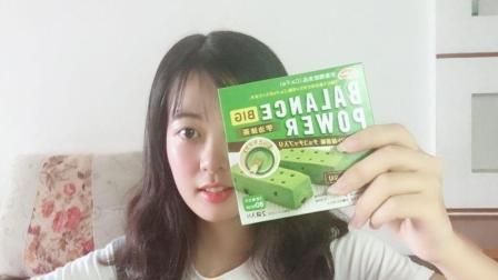 试吃抹茶味的日本压缩饼干, 除了长得好看, 其他的真不咋地