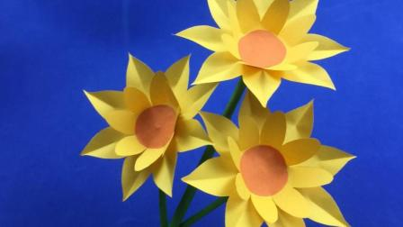 学会这朵美丽的太阳花就不用花钱去买了, 女孩们都喜欢抢着学!