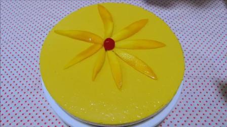 简单易做好吃美味, 嫩滑香甜的免焗芒果芝士蛋糕