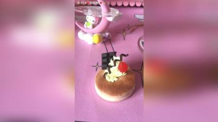 粘土女孩赞出来粘土蛋糕纸粘土蛋糕