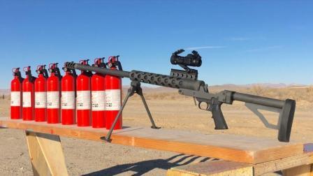 牛人实验: 狙击枪射击8个灭火器, 不料发生了这一幕, 不敢相信