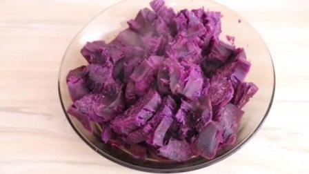 一碗面粉, 几个紫薯, 教你做软糯可口的紫薯饼, 劲道好吃, 超简单
