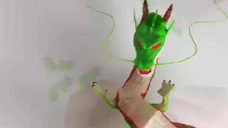 牛人用3D打印笔打印了一条龙, 你是学美术的吗?