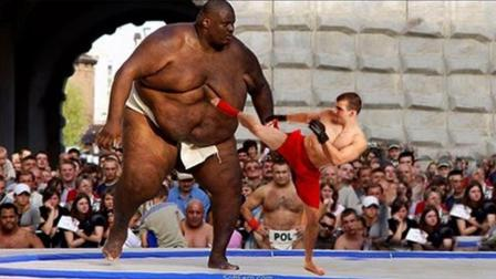 以小胜大! 在真正的强者面前大个子也只有被KO