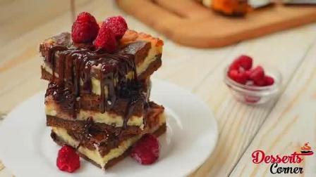 香甜美味的树莓芝士蛋糕, 不用烤箱就能完成的小甜点