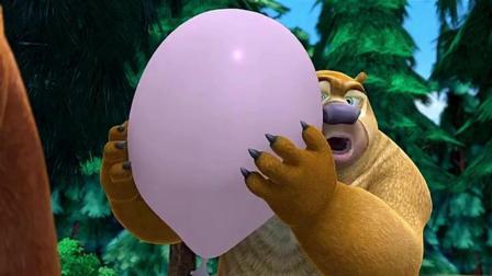 熊出没: 熊大突然砸破气球, 吓得熊二都不打嗝了