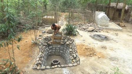 小伙在自家院子挖了个大坑, 开始旁人都不理解, 完工让人眼前一亮
