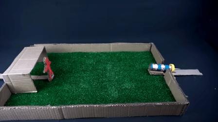 牛人自制迷你足球场, 在家就可以来一场激烈的球赛!