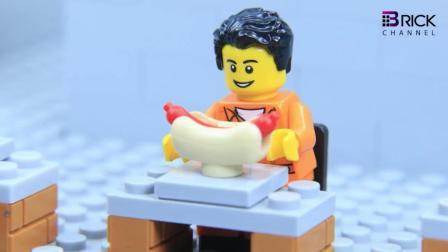 乐高动画: 小黄人为了一根火腿肠, 直接穿墙越狱