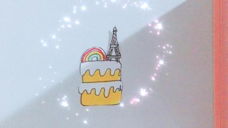 定格动画~彩虹千层蛋糕#创意#
