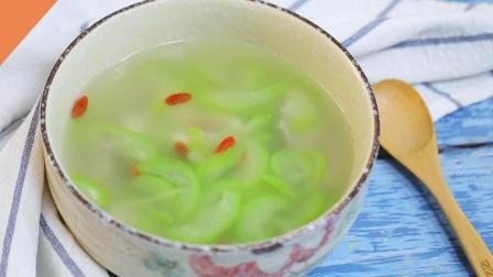 30秒教你做小清新丝瓜鱼片汤