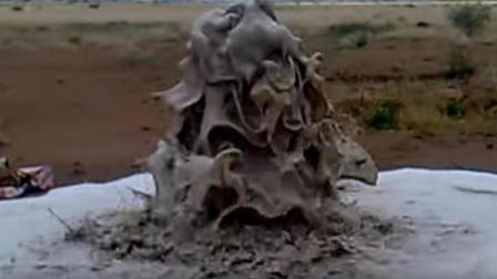 老外用200㎏干冰清洗深水井, 1分钟后, 水井把污渍全吐了出来!