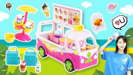 冰淇淋车多功能制作冰淇淋儿童玩具