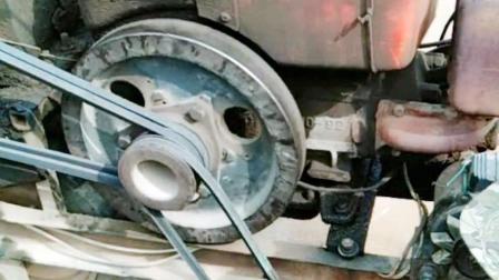 手扶拖拉机打火不要用手摇了, 农机高手教你自制拖拉机电动打火装置!