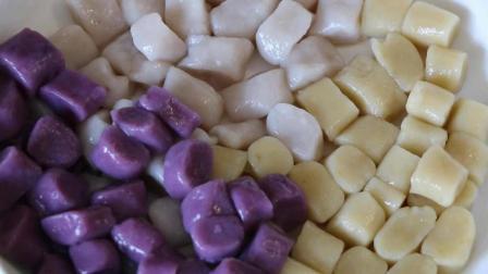 夏天到了, 教你纯手工三色芋圆的做法, 学会了在家就可以吃上美味的芋圆糖水