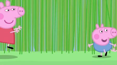 小猪佩奇: 佩奇带乔治去草丛捉迷藏
