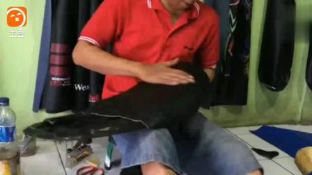 偷偷用厂里的海绵翻新了摩托车车座, 被老板发现