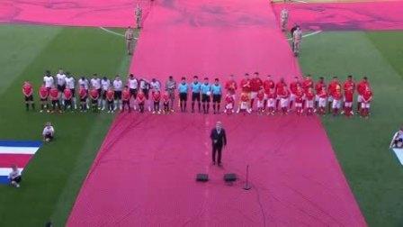 英格兰热身赛最后一战打响 一男一女2歌星演唱两国国歌