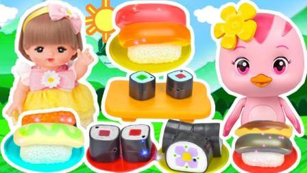 白雪玩具屋奥特曼玩具 2017 萌鸡小队米露变色寿司玩具 萌鸡小队米露变色寿司玩具