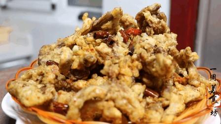 干炸蘑菇的家常做法, 多出这一步, 无论放多长时间照样酥脆!