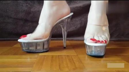 水晶鞋高跟凉鞋, 穿上拥有公主般的高贵气质!