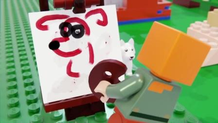 《我的世界》乐高版动物学院, 艾利克斯跟僵尸比赛画画