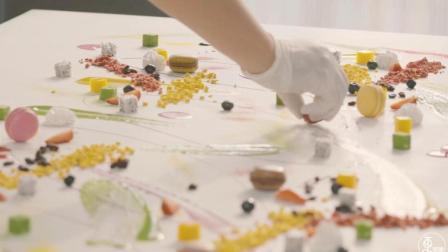 甜品师画布上做甜品, 食材随意搭配颜值高味道好, 网红扎堆去拍照
