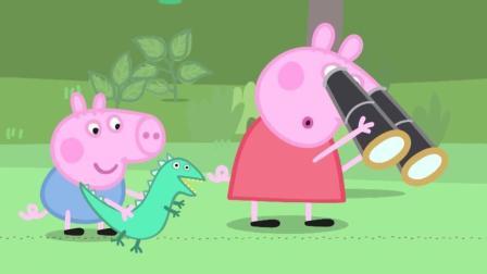 小猪佩奇: 佩奇看到了小鸟在吃虫子