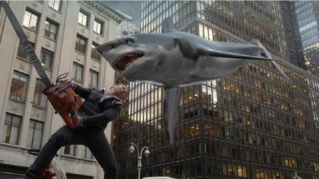 3分钟看美国神剧《鲨卷风》, 鲨鱼会飞, 那都不是事!