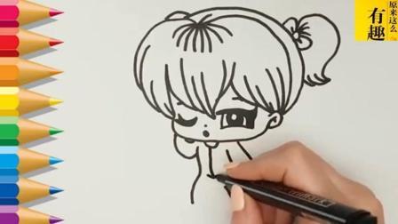 简笔画 美女 美女的画法 怎么画美女 美女简笔画