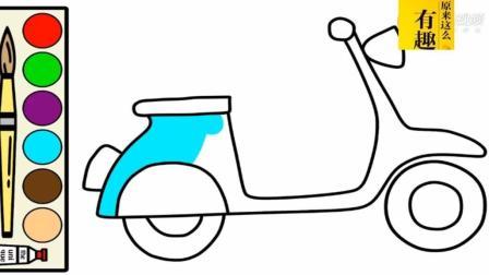 简笔画 滑板车 滑板车的画法 怎么画滑板车 滑板车简笔画