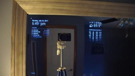 如何DIY一面能显示天气,日期的智能镜子