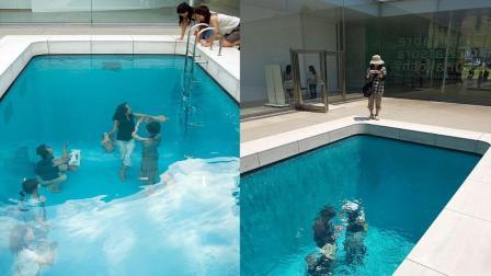 国外的新型游泳池, 人在水下可以自主拍照, 走动不受阻力的影响