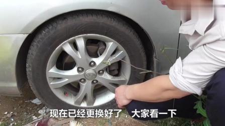 不愧是老司机, 更换轮胎螺丝的速度没有几个新手可以做到。