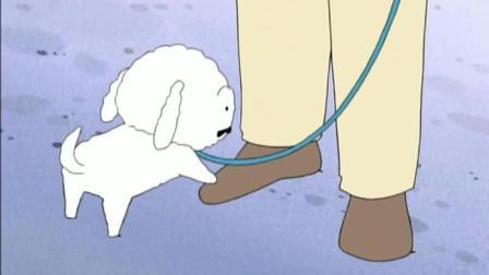 蜡笔小新 广志带小白去溜达, 没想到小白的狗面比他的人面还要广
