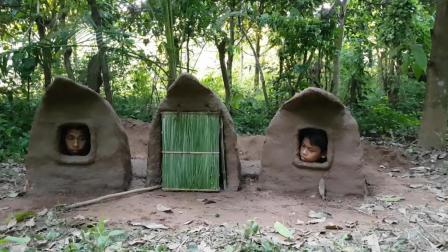 野外求生, 看了这哥俩盖的小泥屋, 网友们纷纷表示还要什么房子!
