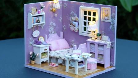 DIY迷你娃娃屋, 全紫色系装饰风格, 小姐姐的理想家
