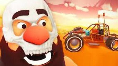 【矿蛙】喝酒大叔丨沙漠中找到梦幻神车! 三个发动机F1赛车