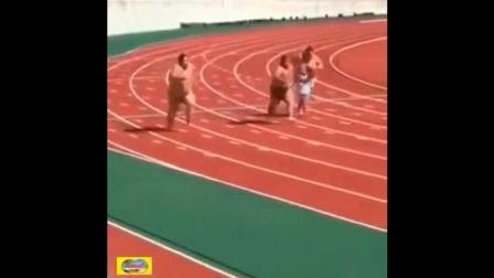 看日本胖子赛跑, 也真是没谁的了