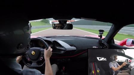 法拉利488 Pista官方赛道狂飙!看看性能是不是很出众