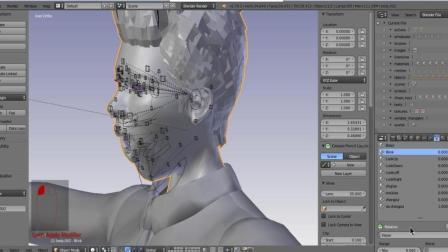 Blender 表情绑定和shapekey制作02
