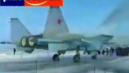 俄罗斯战斗机Mig1.42试飞现场
