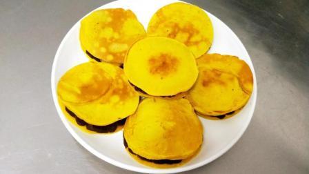 南瓜做的铜锣烧你吃过吗? 不用蒸不用烤, 10分钟就能完成!