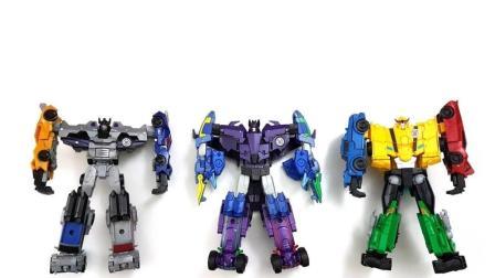 彩色变形金刚是由几个小机器人组成的