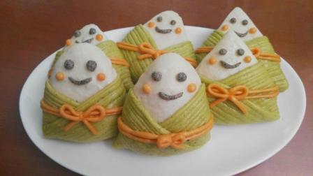 孩子见了喜欢, 大人舍不得吃, 创意粽子形馒头, 让孩子胃口大开