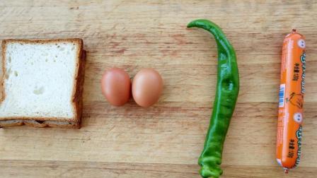 1根火腿, 2个鸡蛋, 做出最营养的学生早餐, 孩子上学最爱吃这饼, 学会常给孩子做, 太香了