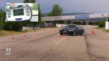 新款奥迪A7的操控性怎么样, 做个麋鹿测试后你就知道了!