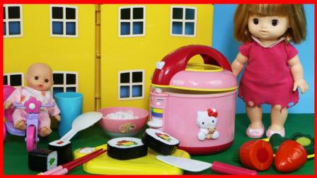 北美玩具 第一季 凯蒂猫 Hello Kitty 的电饭煲厨房玩具,煮饭过家家